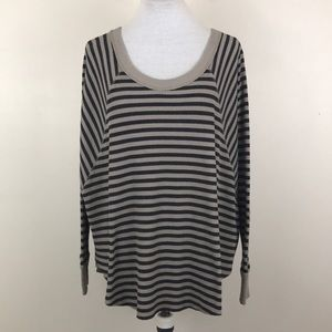 Free People We The Free Striped Waffle Henley